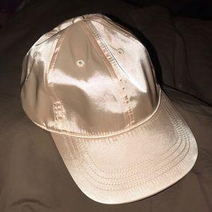 Soft silk pink hat